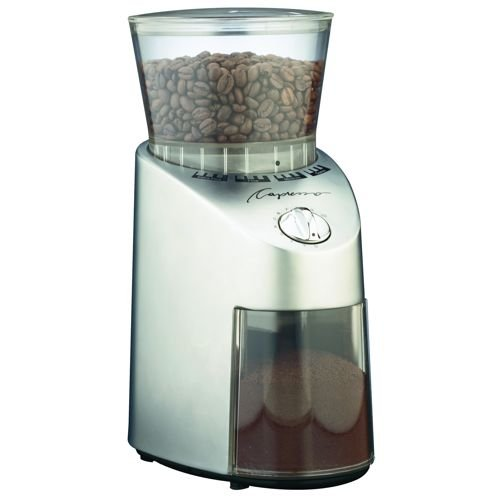 Capresso Metal Die-Cast Housing Conical Burr Grinder