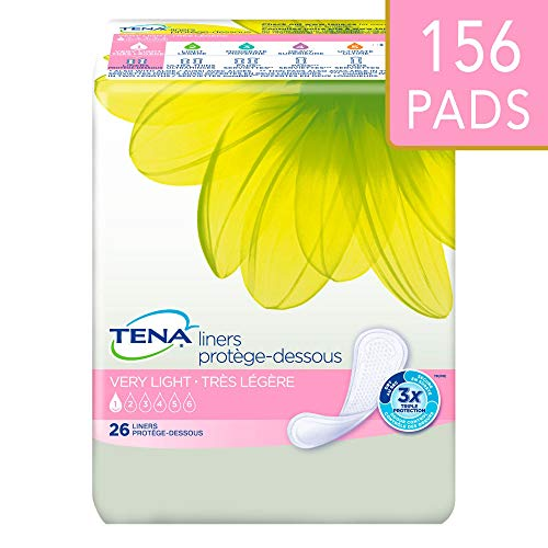 Tena Incontinence Liners For Women, Very Light, Regular, 26 Count