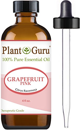 Grapefruit (Pink) Essential Oil 4 oz. 100% Pure Undiluted Therapeutic Grade for Aromatherapy Diffuser, Skin, Body and Hair, Natural Stress Relief & Cleaner