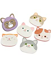 Cat Cup Silicone Coaster Mug - Rubber Mat for Wine, Glass, Tea- Best Housewarming Beverage, Drink, Beer- Home House Kitchen Decor - Wedding Registry Gift Idea (Cat Cup Mat)