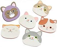 Posavasos de silicona con diseño de gato-Alfombrilla de goma para vino