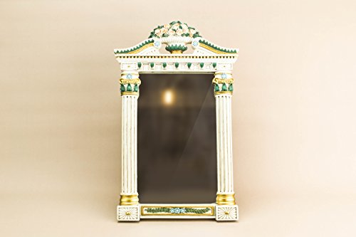 Vintage Beautiful MIRROR Acanthus Leaf Unique Neo-classical Rectangular Cream Large Continental European Late 1900s LS (Large Cream Vintage Mirror)