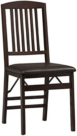 Linon Triena Mission Back Vinyl Side Chair