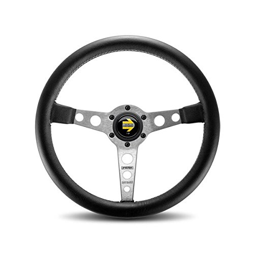 Momo PRO35BK0S Prototipo Silver 350 mm Leather Steering (Porsche Steering Wheel)