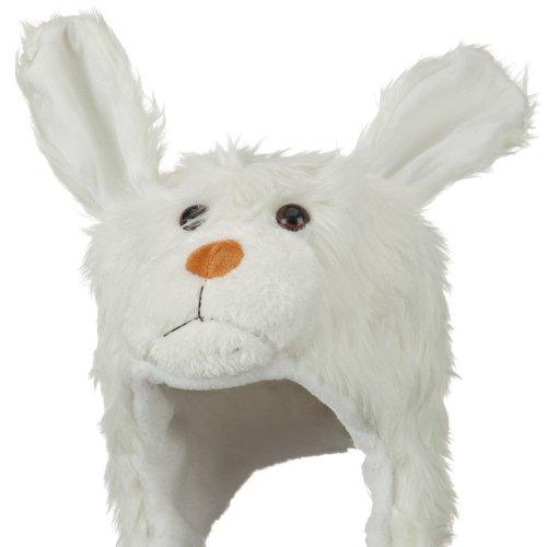 Fleece ML Animal Hat - White Dog (Crazy Dog Costumes)