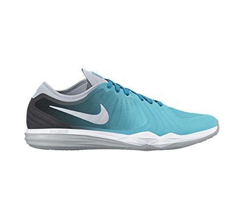Nike W Dual Fusion Tr 4 Print, Zapatillas de Gimnasia para Mujer Azul (Gmm Bl / Mtllc Slvr-Anthrct-Bl L)