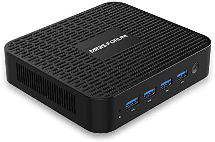 GK41 Mini PC Intel Celeron Processor J4125 Quad Core(up to 2.7GHz),8GB LPDDR4 256GB SSD Windows 10 Pro Mini Desktop Computer 4X USB 3.0 Ports,2X Gigabit Ethernet,4K@60Hz Output,Dual Wi-Fi,BT 4.2