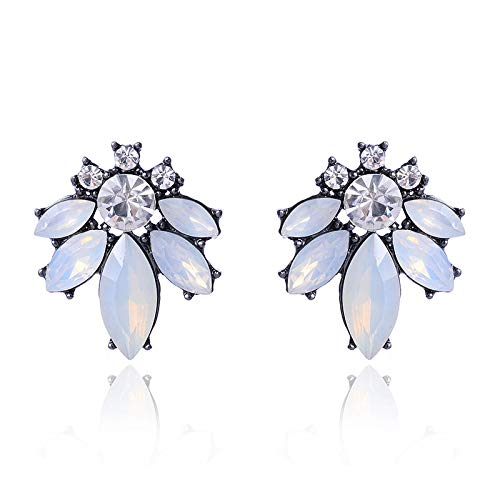 Transparent Antique (ASHIJIN Old Antique Transparent Rhinestone Earrings for Women for Women)