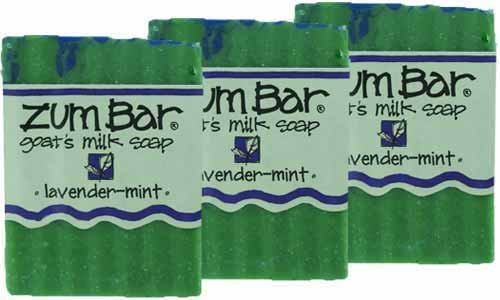 Indigo Wild: Zum Bar Goat's Milk Soap Bar, Lavender Mint 3 oz (3 pack) (Indigo Wild Mint Soap)