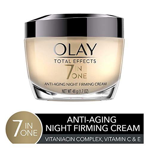 Night Cream by Olay Total Effects Anti-Aging Night Firming Cream & Face Moisturizer, 1.7 Fluid Ounce (Olay Total Effects 7 In 1 Night Cream)