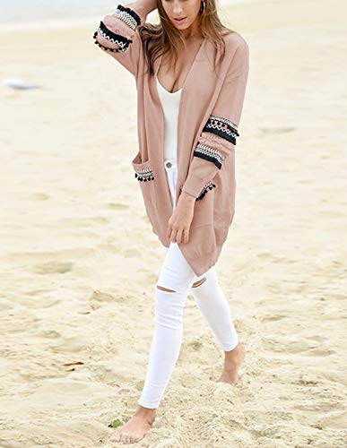 Herfst Casual mouw trui kleine jas met jas lange bal Winter Jas Kleding Medium Mode Bovenkleding Pullover Tops Roze vacht Vrouw Vest lengte Vest Truien Sweater rr0Xvn