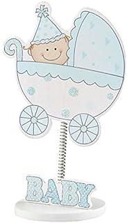 Mopec W930.03 - Portafoto Baby en Carrito con Muelle en Color Azul, Pack