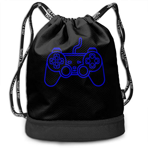 Playstation Controller Drawstring Backpack Sports Gym Bag Running Gym Hiking Travel Beach Gym Bag For Men & Women