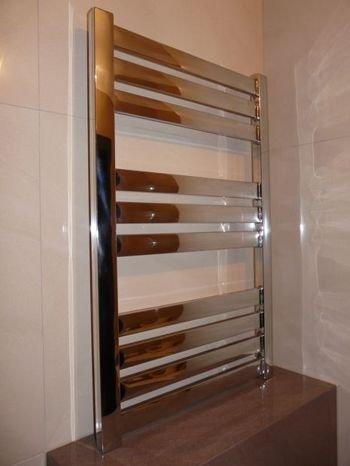 Sale!! Heated Towel Racks Manissa Bathroom Stainless Steel Polished Hydronic Heater (960 Millimeters...