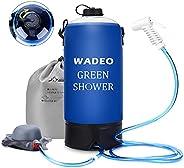 WADEO Camping Shower Bag,11L/2.9 Gallons Outdoor Inflatable Shower Bag Pressure Shower water bag Flexible Hose