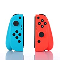 CuleedTec NS Switch Joy Pad Controllers with Gyro and Gravity Sensor - Left and Right Controllers Compatible with Nintendo Switch as a Joy con Controller Replacement - Blue/Red