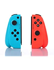 CuleedTec Left & Right Wireless Switch Controller Compatible with Nintendo Switch/Switch Lite, with Vibration, Motion Control, Grip Stand and Ergonomic Design, Perfect for Long Hours of Handheld Gaming (NO NFC and NO IR Camera)