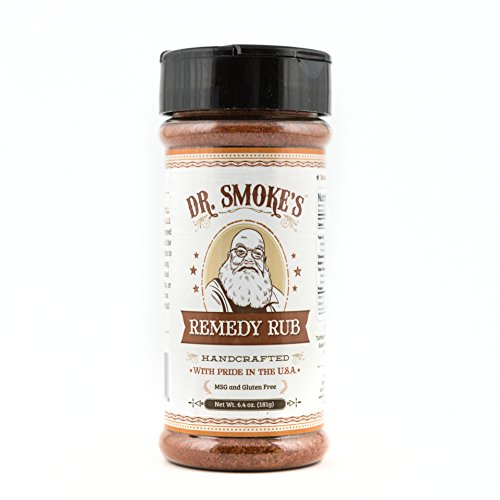 Dr Smoke's Remedy Rub - Handcrafted Kansas City BBQ Dry Rub - All Natural - MSG and Gluten Free - Perfect for Brisket, Ribs, Chicken, Pork, Fish and the Best Way to Start Your Barbecue Feast