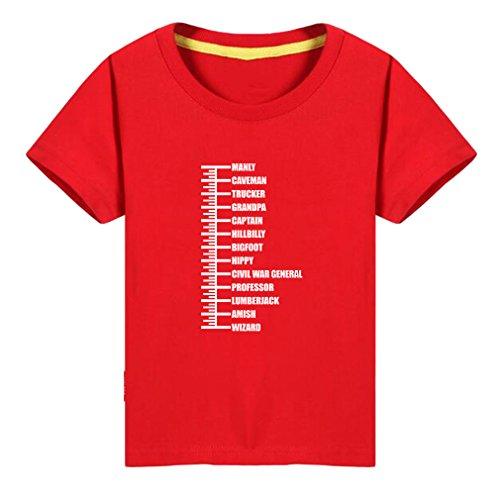 Conquershop Kids Beard Length Ruler Funny Growth Chart Gift T-Shirt (R,4T)