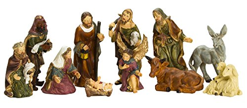 Nativity Set - 3 Inch Real Life Nativity Set 11 - Vintage Scene Nativity