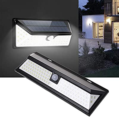 GMSP 102 Beads LED Solar Power Wall Lamp Motion Sensor Light with 270°Wide Angle