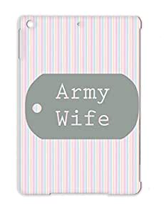 Army Wife Wife Wedding Bride Holidays Occasions Honeymoon Soldiers Weddings Soldier Army Gray For Ipad Air TPU Cover Case