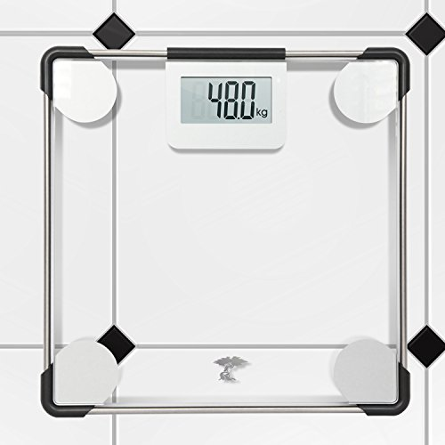 Precision Digital Clear Glass Bathroom Scale 400lbs Capacity Lifetime Guarantee 11street