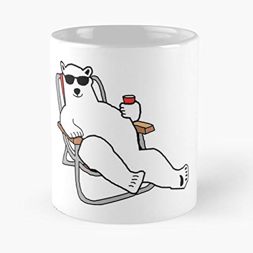 (Polar Bear Polarbear Lounging Climate Change - Best Gift Ceramic Coffee Mugs 11 Oz)