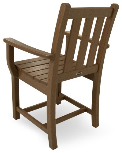 POLYWOOD TGD200TE Traditional Garden Dining Arm Chair, Teak