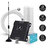 Cell Phone Signal Booster Antenna for Home, Office and RV - 65dB Dual Band 700MHz Band 13/12/17 Cellular Signal Repeater - Boost 4G LTE Data for AT&T, Verizon and T-Mobile
