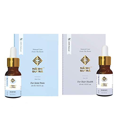 Nabhi Sutra Hair Growth Support Oil – Hair Fall, Dandruff Control -Nourishing & Cleansing Scalp Hair Care Oil + Joint…