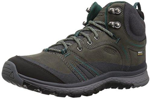 KEEN Women's Terradora Leather mid wp-w Hiking Shoe, Mushroom/Magnet, 8 M US