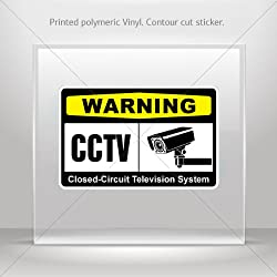 Decal Warning Cctv Video Surveillance Closed Circuit Television System Atv Vi 5 X 3 25 In