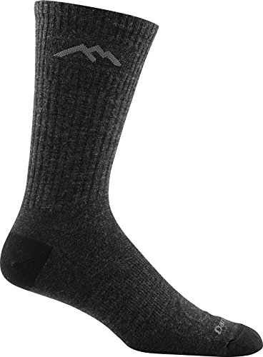 Darn Tough Vermont In-Town Series Men's Standard Issue Crew Socks Cushion, Charcoal, X-Large