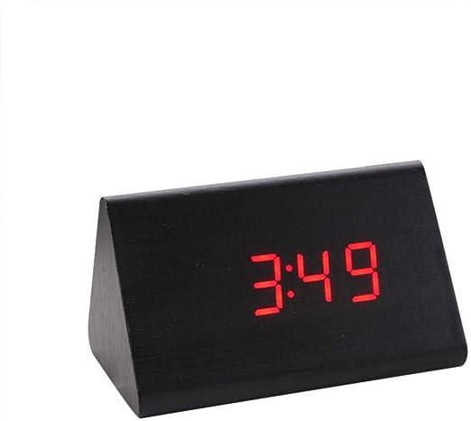 PHUJSA Reloj Despertador Led Reloj De Mesa Digital Pantalla De ...