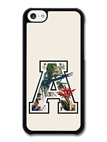 Letter A Customized Name See Through Cool Hipster Style Flowers Background coque pour iPhone 5C