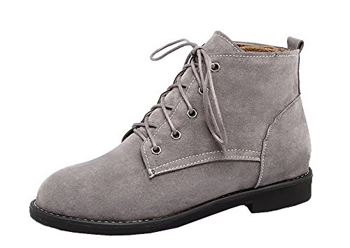 Basso Shoes AgeeMi Lacet Unie Couleur Suede Tacco Bottes Rond Femme 0pqdf0aA
