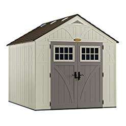 Garden and Outdoor Suncast 8′ x 10′ Tremont Storage Shed – Outdoor Storage for Backyard Tools and Accessories – All-Weather Resin Material… outdoor storage sheds