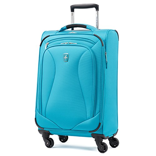 Atlantic Ultra Lite Softsides Carry-on Exp. Spinner, Turquoise Blue ()