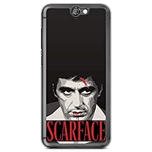 Loud Universe Quote Say Hello Tony Montana HTC A9 Case Scarface HTC A9 Cover with Transparent Edges