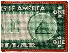 Smathers & Branson Dollar Bill Needlepoint Bifold Wallet (W-62)