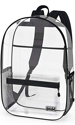 Large Heavy Duty Clear Backpack - See Through Transparent Bookbags For School, Concert - Pass Thru...
