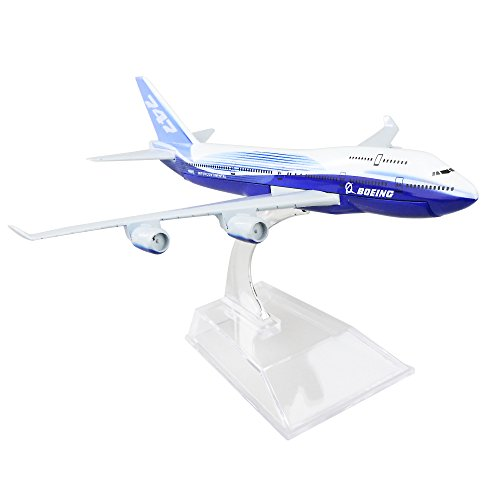 Boeing 747 16cm Metal Airplane Models Child Birthday Gift Plane Models Home Decoration by HANGHANG