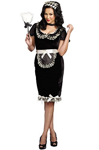 [Mememall Fashion Keep it Clean French Maid Plus Size Costume] (Bavarian Guy Adult Plus Costumes)