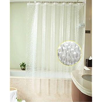 Sfoothome Heavy Duty 100 EVA 3d Effect Bath Curtain Waterproof Mildew Free Shower