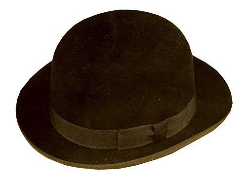 UHC Men's Derby Hat Bowler Felt Fashion Gentleman Adult Costume Accessory (Brown), -