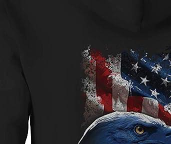 Zip Up Hoodie American Eagle /& Vintage Biker Mechanic Military Pride