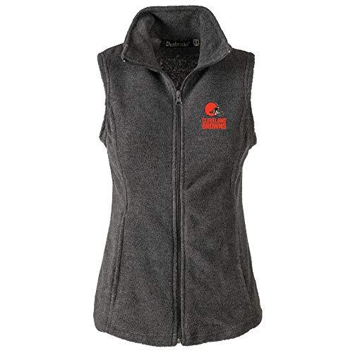 - NFL Cleveland Browns Womens Houston Ladies Fleece Vest, Grey, Large