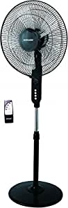 """SONASHI 16"""" STAND FAN WITH REMOTE CONTROL, SF-8027S - BLACK"""