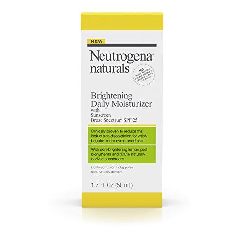 (Neutrogena Naturals Brightening Daily Moisturizer with Broad Spectrum SPF 25 Mineral Sunscreen & Skin-Brightening Lemon Peel, Lightweight, Fast-Absorbing & Non-Comedogenic, 1.7 fl. oz)
